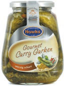 Gourmet curry gherkins 580 ml