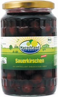 Organic sour cherries, slightly sweetened 720 ml