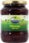 Organic plums half fruit, slightly sweetened 720 ml