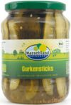 Organic gherkins-sticks 720 ml