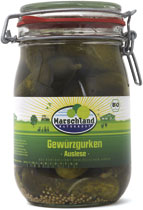 Organic best gherkins in preserverin jar 1140 ml