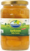 Organic apricots half fruits, slightly sweetened 720 ml