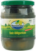 Organic salted dill pickles 580 ml