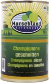 Organic champignons, sliced 4250 ml