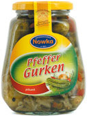 Gherkins with pepper 580 ml