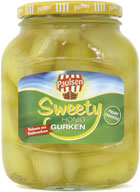 Sweety gherkins with honey 720 ml