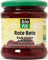 Organic red beets 370 ml