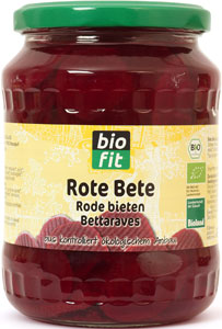Organic red beets 720 ml